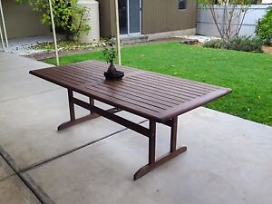 Wooden Outdoor Dining Table Modbury Heights Tea Tree Gully Area Preview