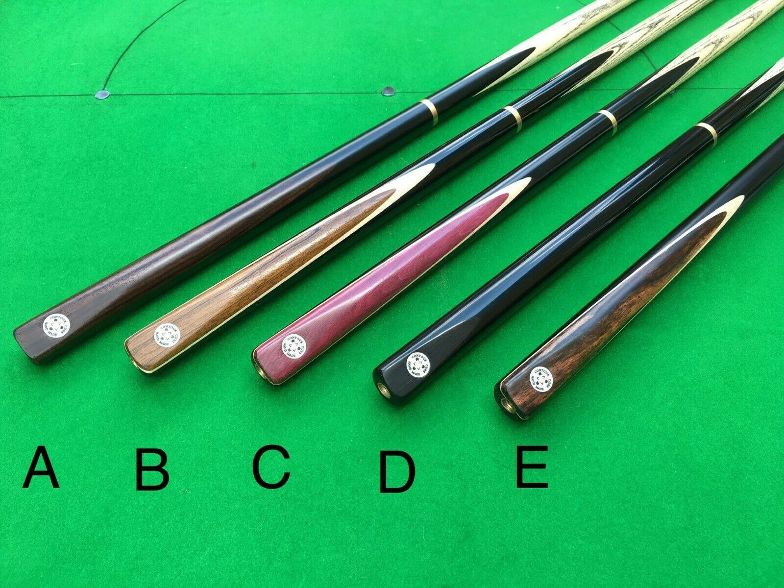 CONTOUR HANDMADE 3/4 JOINTED SNOOKER/POOL CUE