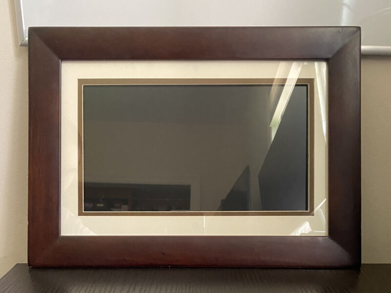 HP 10-Inch Wooden Digital Picture Photo Frame DF1010P1