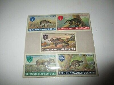 Postage Stamps: Republic Maluku Selatan, 9 unused stamps