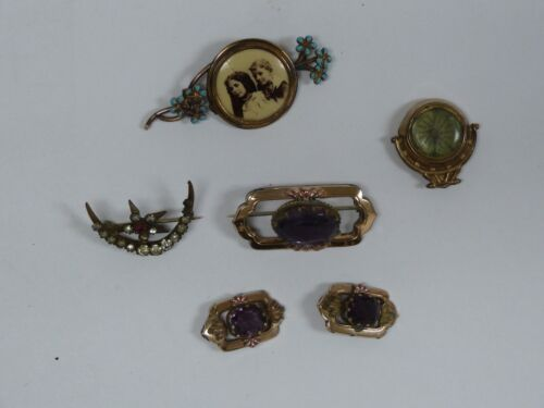 ANTIQUE GOLD FILLED LOT OF BROOCH PINS