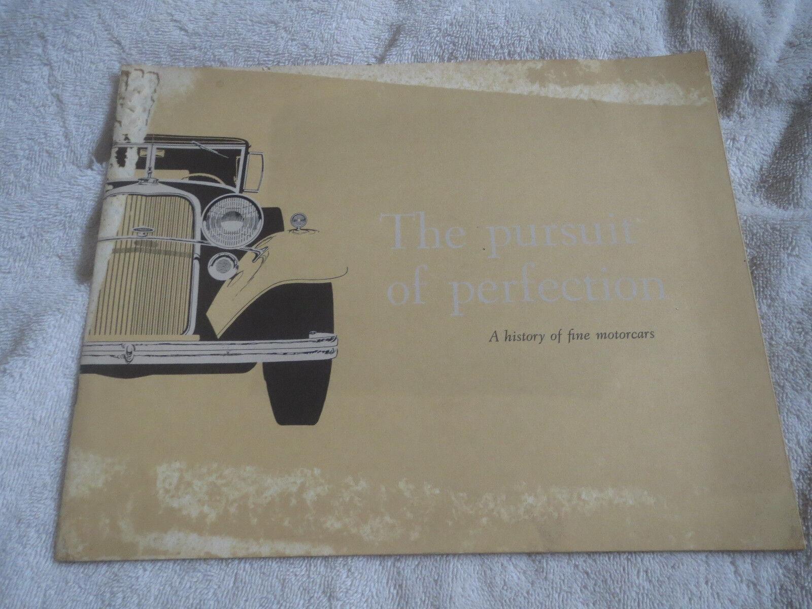 1959 LINCOLN MARK CONTINENTAL LANDAU ORIGINAL PURSUIT OF PERFECTION BROCHURE