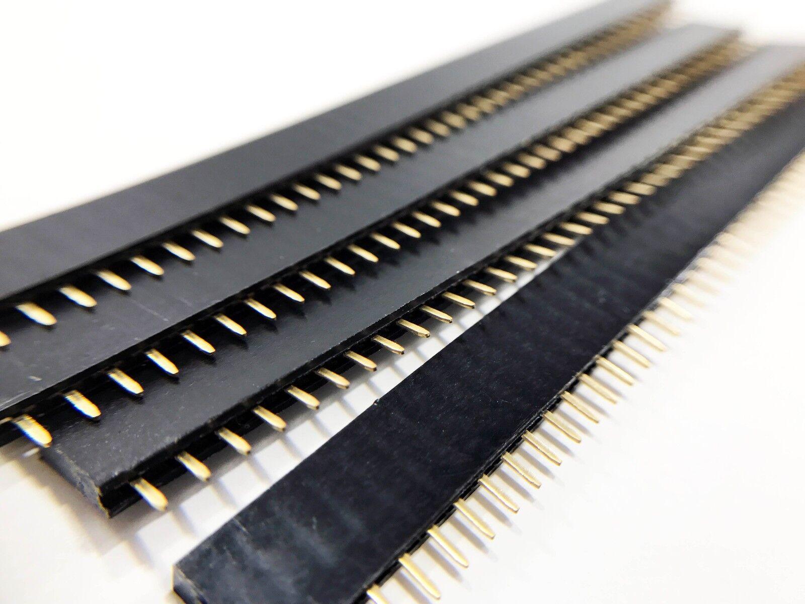 40pin Pcb Header Strip Male//Female Connectors 1x40 Pin SIL Single Row