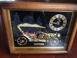 VINTAGE LINDEN ROLLS ROYCE 1910 ANTIQUE AUTOMOBILE CAR Table CLOCK MANTEL Office
