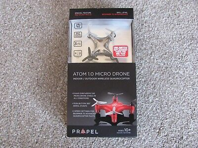 Propel RC Atom 1.0 Micro Drone Indoor/Outdoor Wireless Quadrocopter Titanium