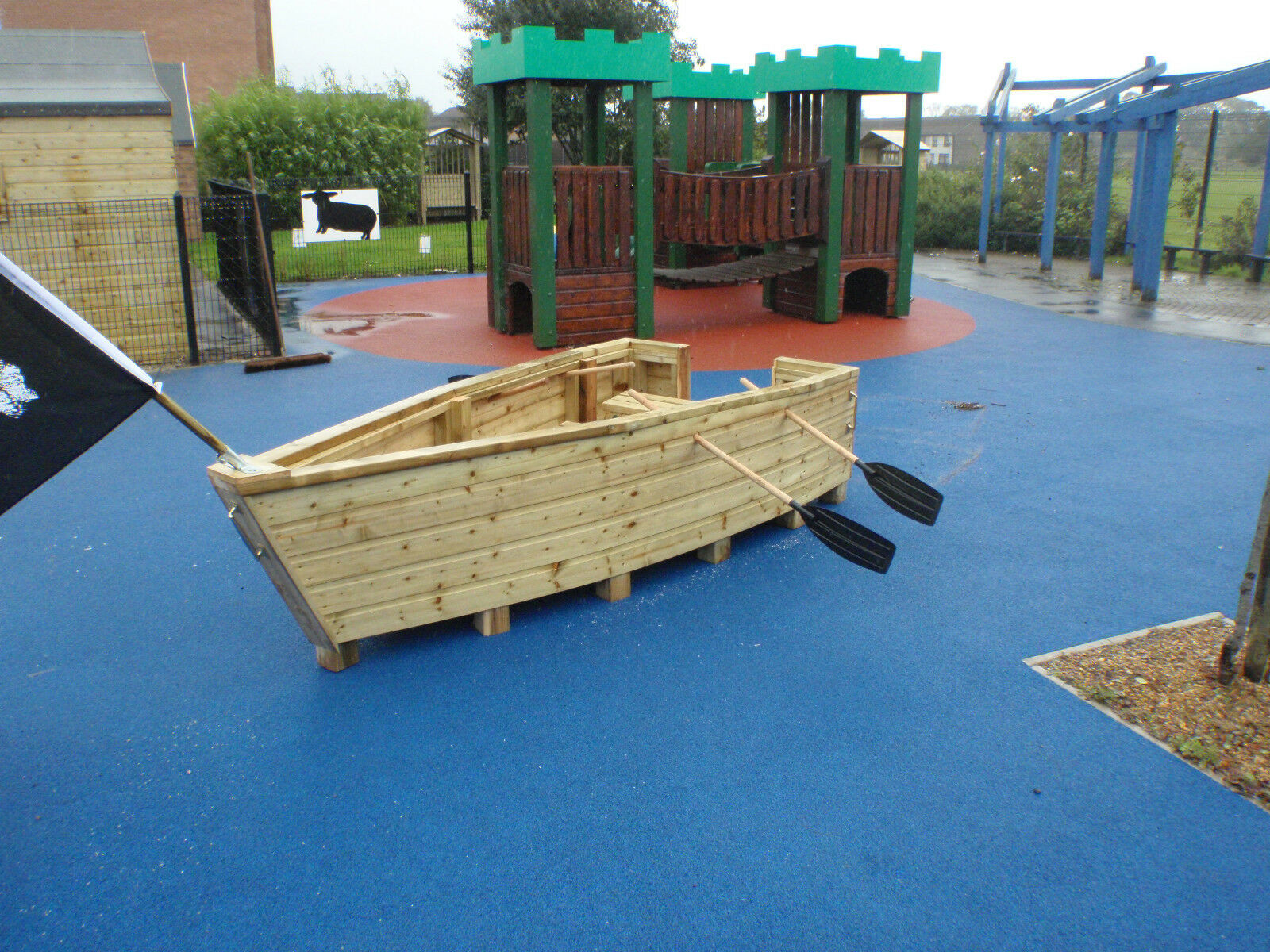 Details About Pirate Ship Boat Wooden Playgroup Creche Playground Outdoor School Great Value