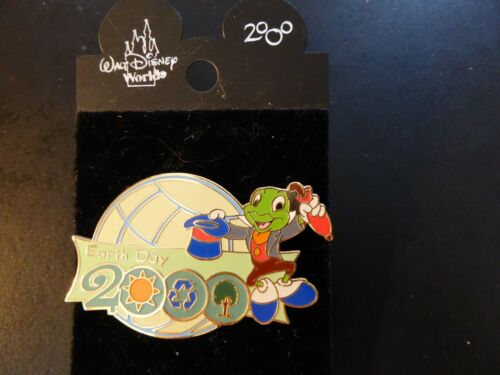 Pin 1580 WDW - Earth Day 2000 (Jiminy Cricket Hat Off)  LE 10,000