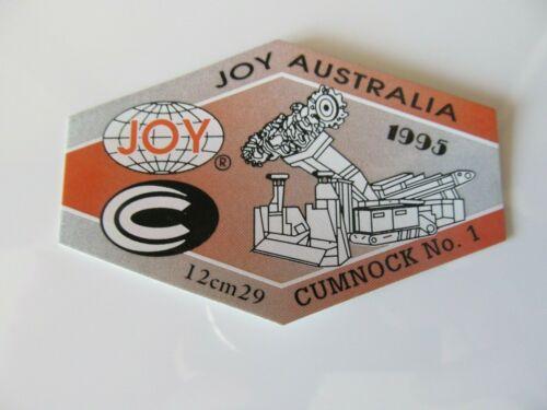 Coal Mining Stickers, Cumnock No1 Joy Aust,