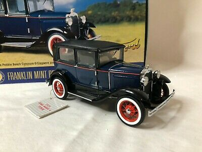 1/24 scale metal FRANKLIN MINT 1930 Ford Model A Tudor PEBBLE BEACH
