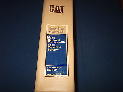 Cat Caterpillar 631E Series Ii 633E Wheel Tractor Scraper Service Repair Manual
