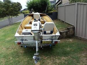 13ft Tinny with 15HP Honda Motor and Trailer Shell Cove Shellharbour Area Preview