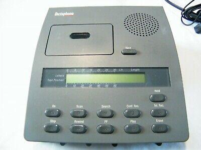Dictaphone 3750 Desktop Microcassette Transcriber Voice Processor Wpower Supply