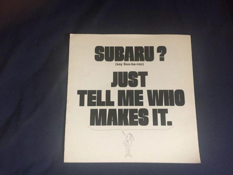 1970s Subaru USA Market Brand Introduction Original Color Brochure Prospekt