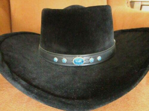 Bailey U-Rollit Men's Cowboy Western Hat  7  Vintage Black with beaded band