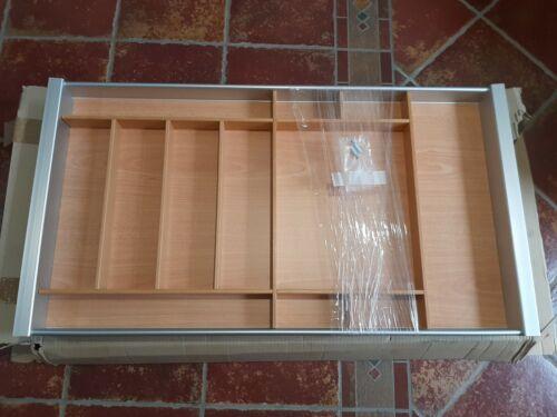 Blum Porta Posate Tandem- Box.per Cassetto 90 Cm.faggio-alluminio. Made In Italy