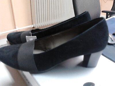 Neue Gabor Damen Pumps 35.476.17 schwarz Samtchevrau Gr. 42 UK 8