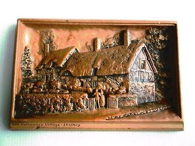 """Osborne Myorex 3D Plaque - """"Anne Hathaway's Cottage"""" - Hand Painted Sterine Wax"""