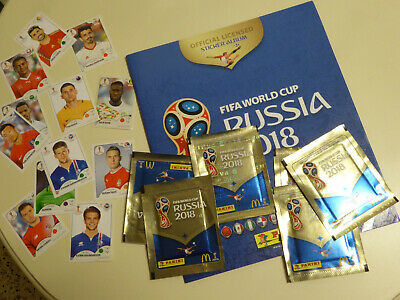 Panini album FIFA WORLD CUP RUSSIA 2018 neuf new + 6 pochettes packs 12 stickers