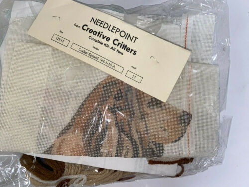 Creative Critters Needlepoint Cocker Spaniel Brown Sn-1-15-a