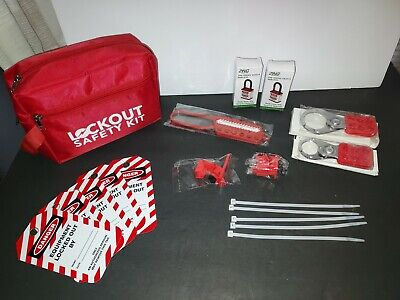 Lockout Tagout Safety Kit With Hasps Loto Tags Red Safety Padlocks