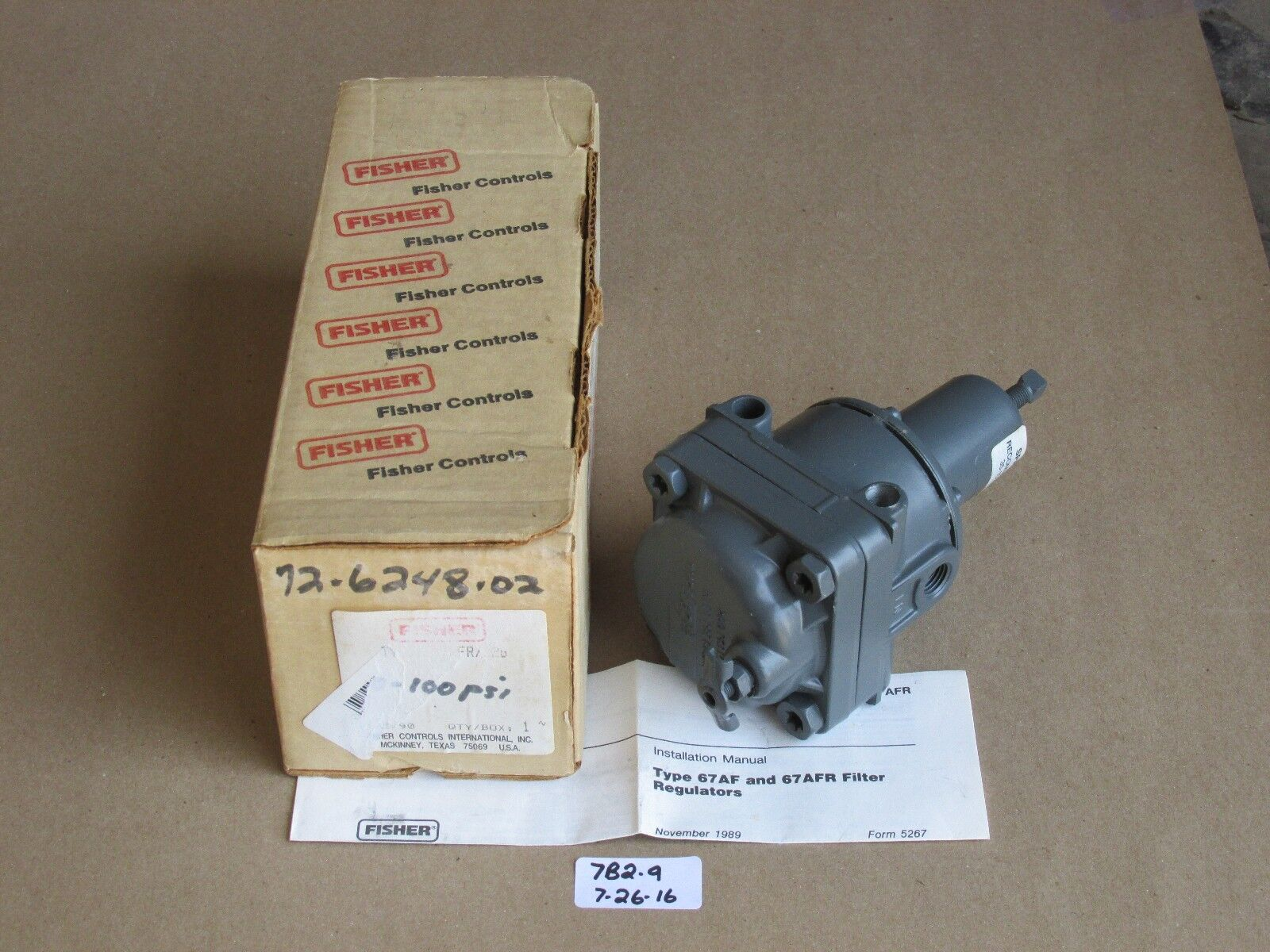 WATER/OIL ~ P/N 95L-14 ~ NEW IN THE BOX Fisher Controls