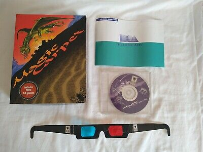 Magic Carpet Big Box PC CD ROM Game, Including 3D Glasses, First Release - 1994 for sale  Shipping to Nigeria