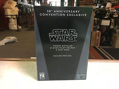 2007 Master Replica Star Wars WEDGE ANTILLES X-WING PILOT HELMET 30th NIB ()