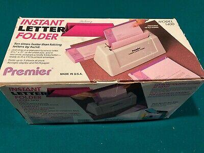 Martin Yale Premier Instant Letter Folder Paper 3 Sheet Max Model 1400 Work Fine