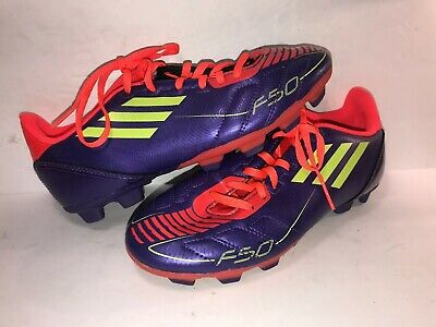 97b1ac72a81 ADIDAS F50 F10 TRX SZ 4 M PURPLE LACE UP BIG KIDS SOCCER CLEATS SHOES WS10-6 -6