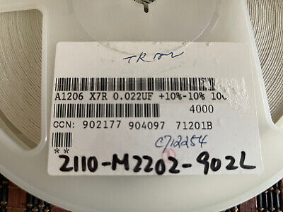 Ceramic Capacitor .022 Uf 100v Smd 1206 4000 Pcs