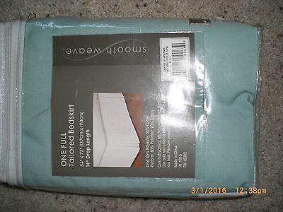 NEW QUALITY Smooth Weave Full Tailored Bedskirt 14 inch Drop Sage Green SPA