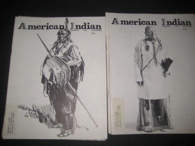 American Indian Crafts and Culture 5 issues from 1971  bk