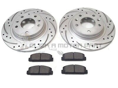 REAR 2 DRILLED GROOVED BRAKE DISCS AND BRAKE PADS SET NEW FOR MAZDA 6  2002-2012