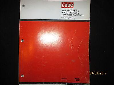 Case Model 430 - 530 Series Draft-o-matic Tractors Parts Catalog Manual Original