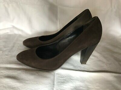 kennel &schmenger ladies shoes size 5.5, brown suede, 3.5' heel used,