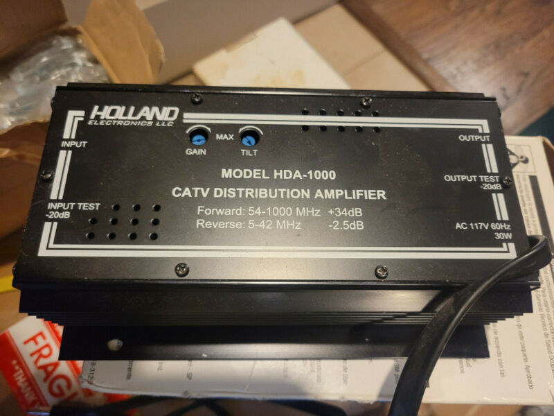 HOLLAND HDA-1000 1 GHZ CABLE AMPLIFIER