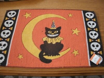 Set Of 4 Halloween Cat and Moon 13x19 Tapestry Placemats ](Moon 13 Halloween)