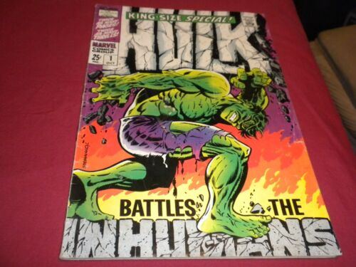 OA1 Incredible Hulk Annual #1 marvel 1968 silver age 3.0/3.5 comic! INHUMANS!!!