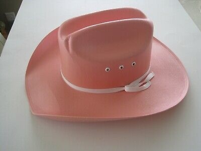 Child's Pink Cowboy Hat Girls Plastic for 6-8 Year Old Texas Hat Company](Girls Pink Cowboy Hat)