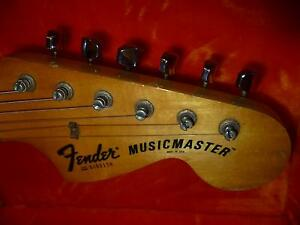 FENDER USA MUSICMASTER VINTAGE 1978 GUITAR WITH TWEED CASE Annerley Brisbane South West Preview
