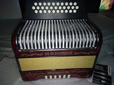 Accordion Hohner Corona III GCF, Sol Do Fa, acordeon vallenato