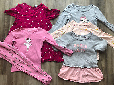 Girls Lot of Fall Clothes Clothing 5T Gymboree Carter's Old Navy Shirts Tops PJs