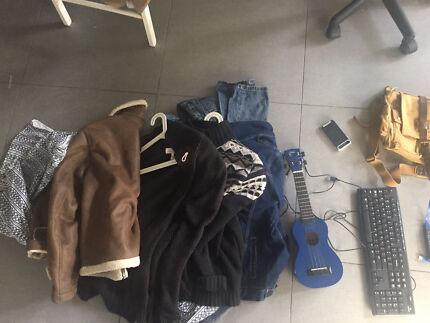 Moving out sale Clothes keyboards ukulele bag West Melbourne Melbourne City Preview