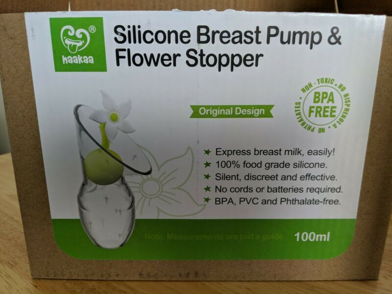 Haakaa Silicone Breast Pump & Flower Stopper
