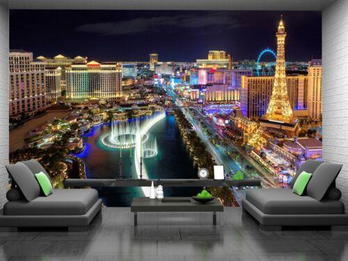 Las Vegas Photo Wallpaper Wall Mural DECOR Paper Poster Free Paste
