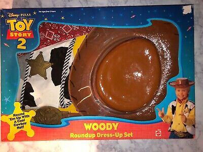 Toy Story Woody Dress Up ( 1999 Disney Pixar Mattel Toy Story 2 Woody Roundup Dress-up Set RARE!!)