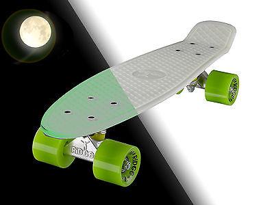 "Glow in the Dark Mini Cruiser Board Retro Skateboard Complete Ridge 22"""