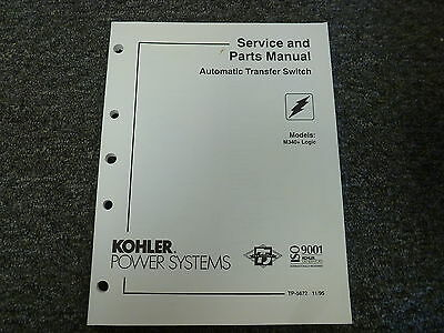 Kohler M340 Logic Automatic Transfer Switch Parts Catalog Shop Service Manual