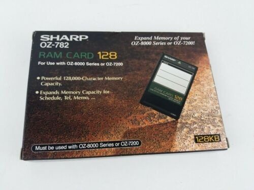 SHARP OZ-782 Ram Card 128 For Use with OZ-8000 Series or OZ-7200 - NEW IN BOX