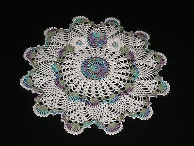 New Hand Made Doily Crochet Rose & Flowers Pineapple